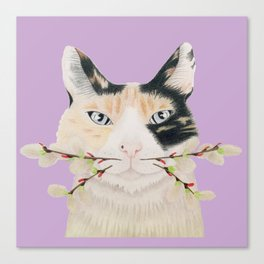 Calico Cat-ti-tude Canvas Print
