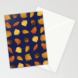 Leaf Lovers in Navy Stationery Cards