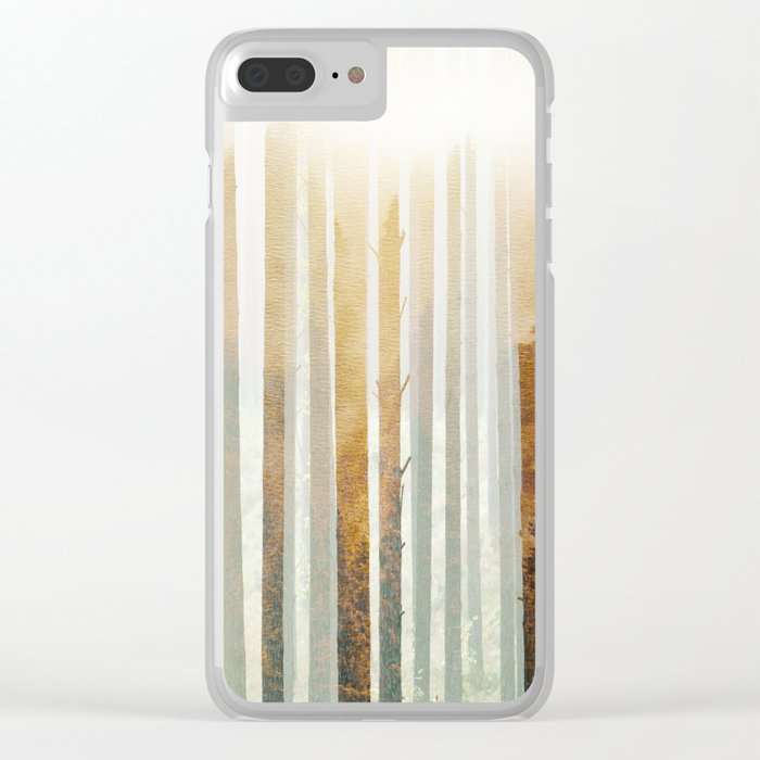 Golden Winter Forest 4 Clear iPhone Case