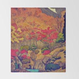 Autumn Baths in Kaanaii Throw Blanket