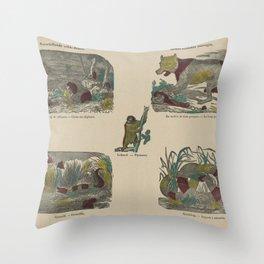Verschillende wilde dieren   Divers animaux sauvages, Deberny, 1800 - 1833 Throw Pillow