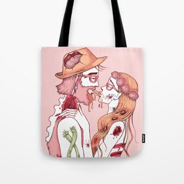 Zombie Hipsters in Love Tote Bag
