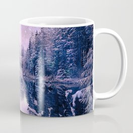 Pink Lavender Winter Wonderland : A Cold Winter's Night Coffee Mug