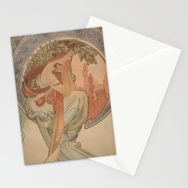 Alfose mucha HF2 Stationery Cards