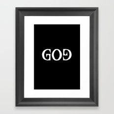 GOD - Ambigram series (Black) Framed Art Print