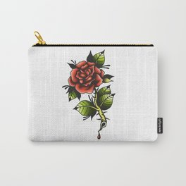 Blood Rose Carry-All Pouch