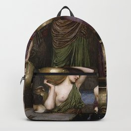 Danaides by  John William Waterhouse Backpack