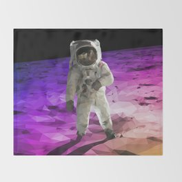 Astronaut Low Poly Throw Blanket