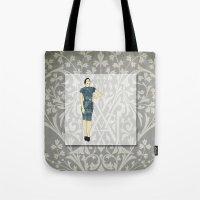 olivia joy Tote Bags featuring Olivia by Aquamarine Studio