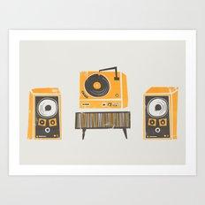 Vinyl Deck And Speakers Art Print