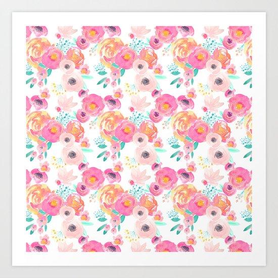 Indy Bloom Design Blush White Florals by indybloomdesign