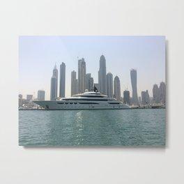 Dubai Yacht Metal Print