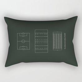 ..just the evolution & de-evolution of football Rectangular Pillow
