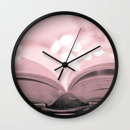 Open Book Wall Clock