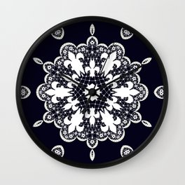 White lace Wall Clock