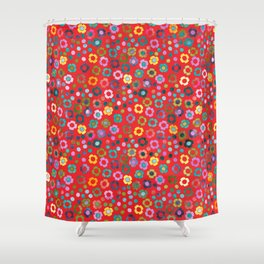 dp065-5 floral pattern Shower Curtain