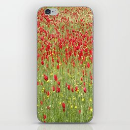 Meadow With Beautiful Bright Red Poppy Flowers  iPhone Skin