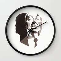 hitchcock Wall Clocks featuring Hitchcock by Liam Brazier