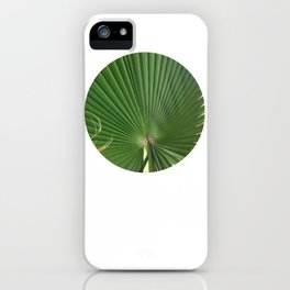 Palm Frond (circle week) iPhone Case