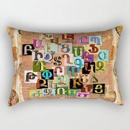 Armenian Textural Alphabet Rectangular Pillow