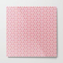 Pink Stitches Metal Print