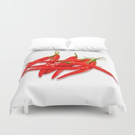 Spicy red pepper Duvet Cover