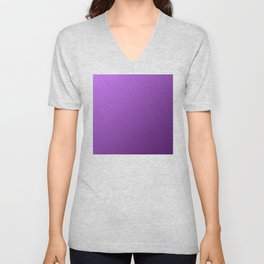 Light and Dark Violet Purple Gradient Ombre Unisex V-Neck