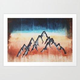 Wood Mountain Sunset Print Art Print