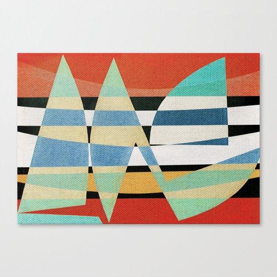 Sailing on a Raging Sea Canvas Print
