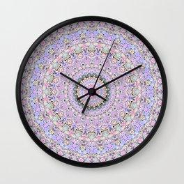 Marbled Pastel Mandala Wall Clock