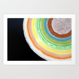 Colorful Abstract Slice of Giant Jawbreaker Candy Art Print