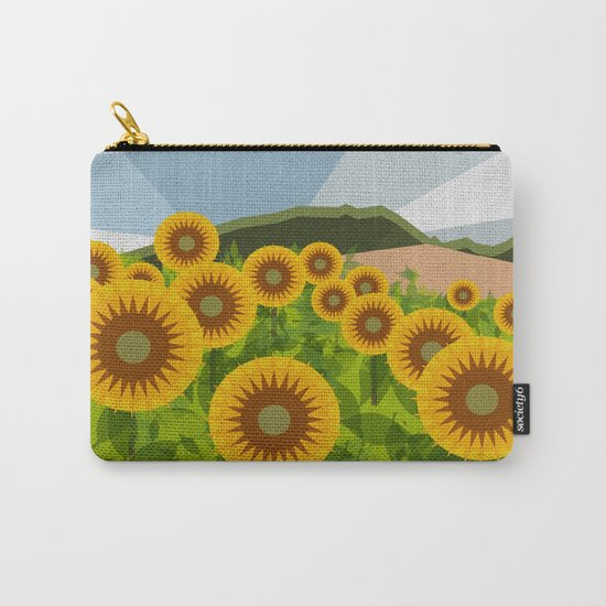 SUNFLOWERS (geometric flowers abstract) Carry-All Pouch