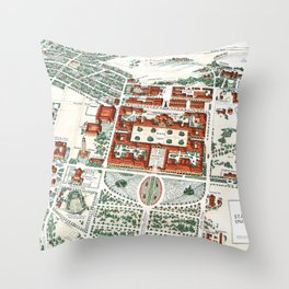 STANFORD CALIFORNIA University map Throw Pillow