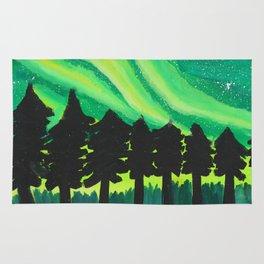 Serene Aurora Borealis Rug