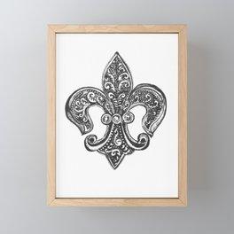 Fleur de Lis Framed Mini Art Print