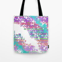 fringe Tote Bags featuring Fringe Floral by Ruby Valderama