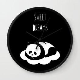 Sweet dreams with panda Wall Clock