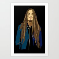 gangster Art Prints featuring Gangster by Elena Medero