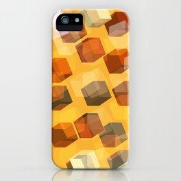 transparent cubes iPhone Case