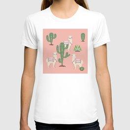 Alpaca with Cacti T-shirt