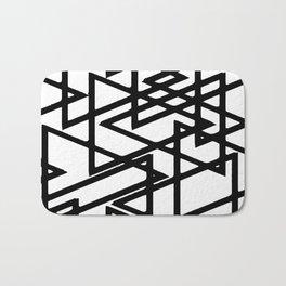 Interlocking Black Triangles Artistic Design Bath Mat