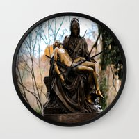 religious Wall Clocks featuring Religious by Nevermind the Camera