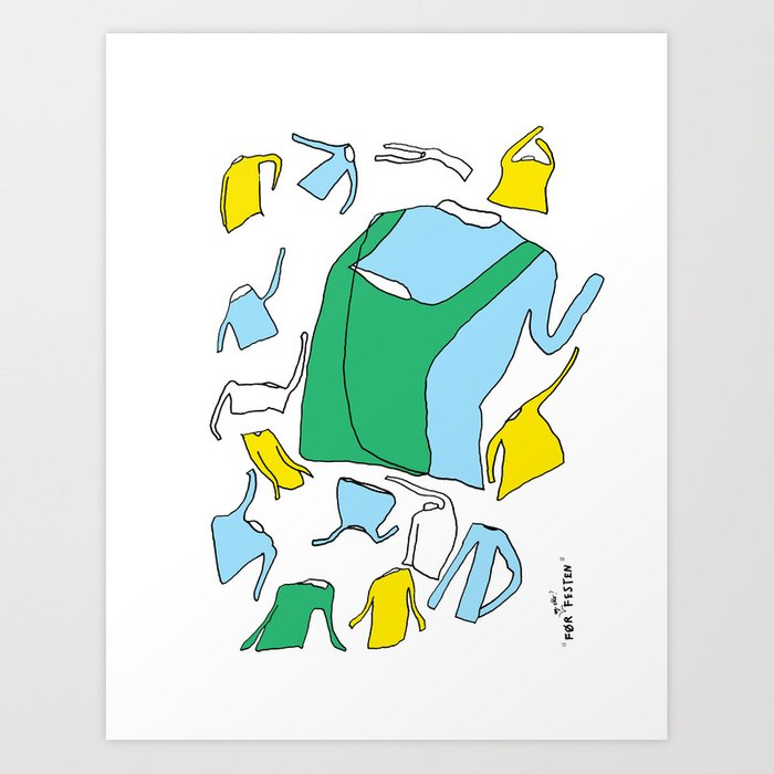 Before and after the party Art Print