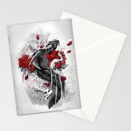 Black Koi Stationery Cards