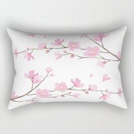 Cherry Blossom - Transparent Background Rectangular Pillow