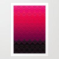 ELENA PATTERN - FLAMENCO VERSION Art Print