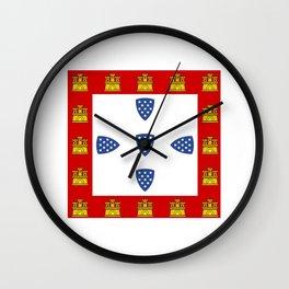 Old Portuguese flag Wall Clock
