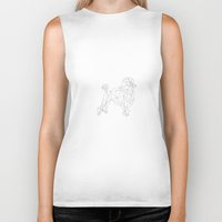 poodle Biker Tanks featuring Poodle by Studio Caro-lines
