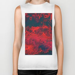 Red Abstract Texture (Color) Biker Tank