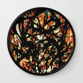 Jackson Jackson Pollock style, digitally modified, fine art decor and clothing Wall Clock